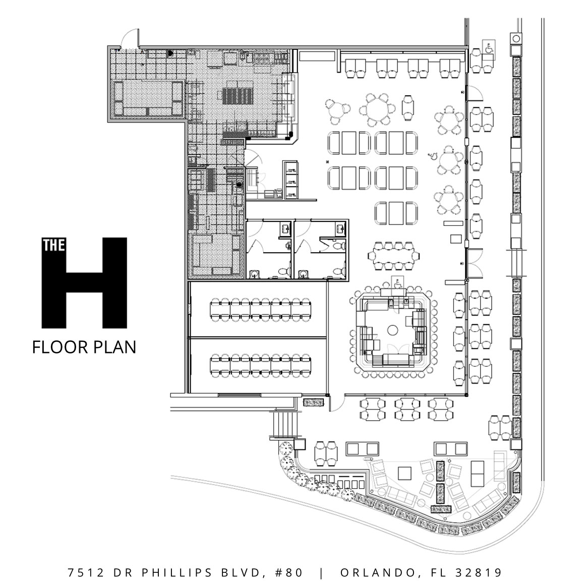 The H Cuisine Floor Plan
